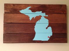 State Pallet Art Sign Wall Decor Michigan by dashingdesignsfinds.etsy.com