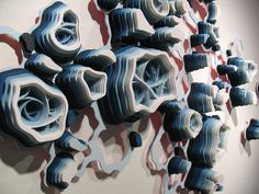 charles clary: acrylic and hand cut paper installations
