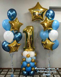 Boys 1st Birthday Cake, First Birthday Balloons, Jungle Theme Birthday, Birthday Balloon Decorations, Balloon Columns, Balloon Garland, Balloon Arrangements, Letter Balloons, Wedding Balloons