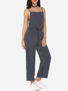 Product Name: Striped Loose Fitting Glamorous Jumpsuits       Weight: 48(g)   Pants Length: Long