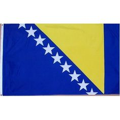 Bosnia-Herzegovina Flag Polyester 3 ft. x 5 ft. by SHOPZEUS. $5.73. 3 X 5 FOOT POLYESTER FLAG WITH 100% BRASS, NEVER RUST GROMMETS. 3 X 5 FOOT POLYESTER FLAG WITH 100% BRASS, NEVER RUST GROMMETS