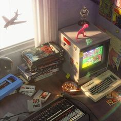 Nostalgia - Artwork / Forum Gallery - Blender Artists Community William Higinbotham developed an Retro Videos, Retro Waves, Retro Futurism, Aesthetic Vintage, Neon Aesthetic, Wall Collage, Aesthetic Pictures, Game Art, Aesthetic Wallpapers