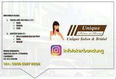 Lowongan Kerja Unique Salon & Bridal Bandung Juli 2017