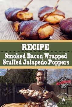 Sweet Potato Spinach and Bacon Turkey Burgers - New Ideas Bacon Wrapped Jalepeno Poppers, Bacon Wrapped Stuffed Jalapenos, Jalapeno Popper Recipes, Bacon Recipes, Stuffed Jalapeno Peppers, Grilled Recipes, Traeger Recipes, Game Recipes, Milk Recipes