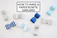 paper bowtie banner horizontal