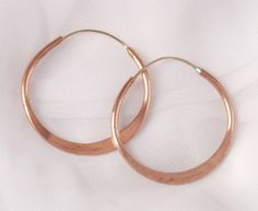 Hoop Earrings Hammered Copper 125 Inch Diameter >>> Find out more about the great product at the image link.
