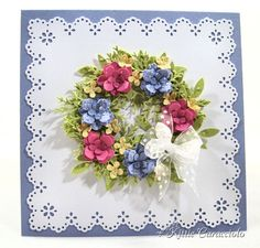 Spring Floral Wreath by kittie747 - Cards and Paper Crafts at Splitcoaststampers