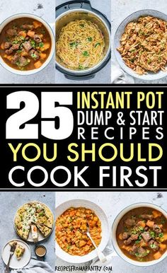 This awesome collection of tried and tested Dump and Start Instant Pot Recipes includes a variety of delicious and easy breakfasts, soups and stews, main dishes, side dishes and desserts. Just dump in the Instant Pot, press start and the magic pot will do the rest #Instantpotrecipes #pressurecookerrecipes #easyrecipes #dumpandstartrecipes #dumprecipes #recipes #instantpotdumprecipes #pushandstartrecipes #easyinstantpotrecipes #beginnerrecipes Lunch Recipes, Appetizer Recipes, Crockpot Recipes, Healthy Recipes, Healthy Food, Appetizers, Best Instant Pot Recipe, Instant Pot Dinner Recipes, Instant Recipes