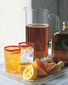 Kentucky Derby recipe ideas: This Arnold Palmer with bourbon traditional lemonade and iced tea combination is spiked with bourbon and a hint of orange. Leave out the liquor for a kid-friendly option.