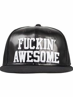 Fuckin Awesome Cap - Nly Accessories - Black - Accessories Miscellaneous - Accessories - Women - Nelly.com Uk