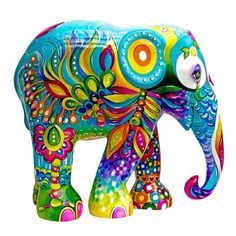 Colorful Elephant, Asian Elephant, Elephant Love, Elephant Design, Elephant Art, Elephant Sculpture, Sculpture Art, Comic Cat, Elephants Photos
