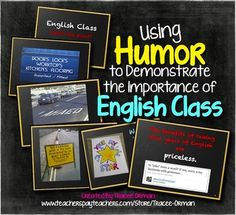 Using Humor to Teach the Importance of English Class PPT with Handouts (80+ slides now!)