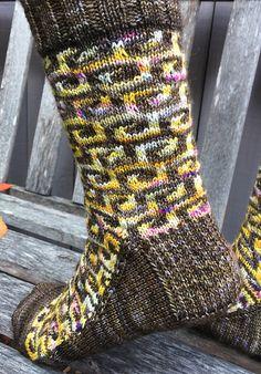 Ravelry: Aztec Dreams Socks pattern by Liz Harris
