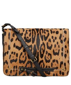 Jérôme Dreyfuss Leopard Albert Shoulder Bag
