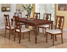 Dining Set, Table with Leaf+6 ChairsDining room sets