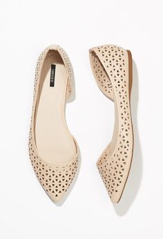 Perforated Faux Leather Flats | Forever 21