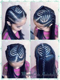 Black Kids Hairstyles, Baby Girl Hairstyles, Kids Braided Hairstyles, Princess Hairstyles, Braids For Short Hair, Braids For Kids, Girls Braids, Girl Hair Dos, Kid Braid Styles