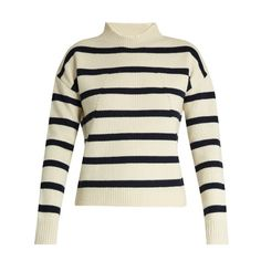 Tabula Rasa Albright striped wool sweater (2.465 NOK) ❤ liked on Polyvore featuring tops, sweaters, cream stripe, stripe sweaters, loose crop top, striped crop top, wool sweaters and cropped sweater