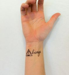 2 Harry Potter Always Temporary Tattoos GeekTat by GeekTat on Etsy