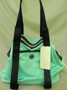 026fe9898ea9 Lululemon Bag Tote All Day Asana Yoga Mat Carrier Opal Aqua Blue New Tag