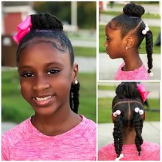 fun hairstyles holiday hairstyles ponytail hairstyles hairstyles for kids to do braids for kids hairstyles for kids hairstyles for girls kids kids hairstyles for girls easy kid hairstyles for girls hairstyles kids hairstyles Lil Girl Hairstyles, Girls Natural Hairstyles, Natural Hairstyles For Kids, Kids Braided Hairstyles, Princess Hairstyles, Cool Hairstyles, Teenage Hairstyles, Holiday Hairstyles, Black Hairstyles