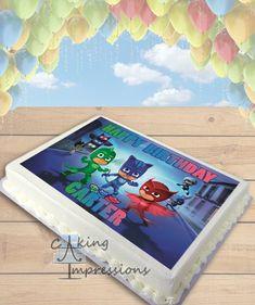 PJ Masks Edible Image Cake Topper [SHEET]