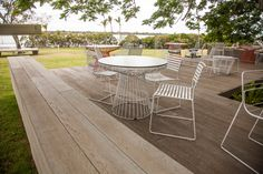 Millboard decking is a composite solution from Urbanline and is virtually maintenance free, whilst still closely resembling the natural beauty of timber. Wpc Decking, Composite Decking, Back Deck, Outdoor Furniture Sets, Outdoor Decor, Garden Ideas, Composition, Benches, Gardens