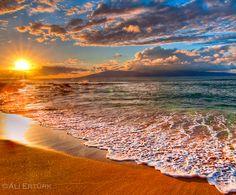Maui, in a Kihei beach…