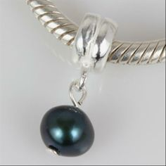 d6c8c4596a2f Nature Freshwater Blue Dangle Bead 925 Sterling Silver Core Bead