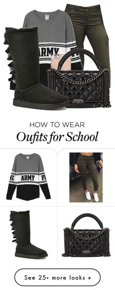 going to school by love04444 on Polyvore featuring MICHAEL Michael Kors, Chanel and UGG Australia