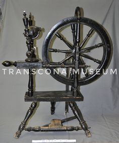 Spinning wheel came from Denmark, ca. 1880s (TM Collections). #StoriesMW #WomenMW #MuseumWeek
