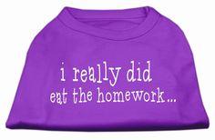 I really did eat the Homework Screen Print Shirt Purple M (12)