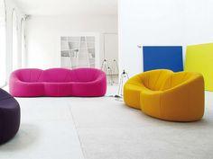Pumpkin sofa by Pierre Paulin for Ligne Roset Ligne Roset, Modern Furniture Stores, European Furniture, Pierre Paulin, Modern Sofa Designs, Italia Design, Contemporary Sofa, Fabric Sofa, Elegant