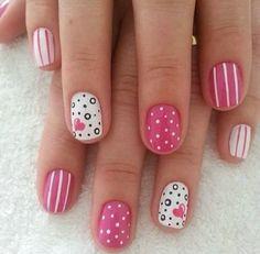 Pink Nail Art Designs 2014