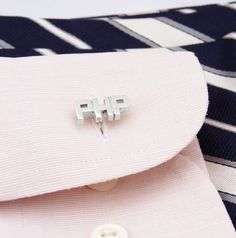 great idea for a girl or guy! initials as cuff links! so brill!