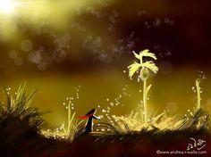 Neue Pflanzen sind nicht nur neues Leben, sondern auch frische Liebe, die um die Welt zirkuliert und wir atmen dürfen. Make Myday die Abenteuer der kleinen Fee als Kalender und FineArt http://www.spielweltv3galerie.com/shop/make-myday/