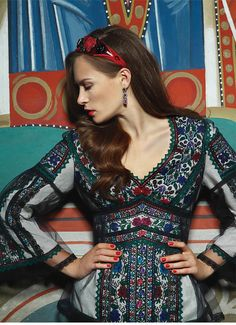 Фото - Видання - Alland - ETHNO FASHION STORE Folk Embroidery, Embroidery Fashion, Lovely Dresses, Beautiful Outfits, Ethno Style, Folk Costume, Costumes, Europe Fashion, Textiles