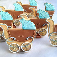 baby shower cookies, old school. Fancy Cookies, Iced Cookies, Cute Cookies, Royal Icing Cookies, Cupcake Cookies, Sugar Cookies, Cupcakes, Baby Boy Cookies, Baby Shower Cookies