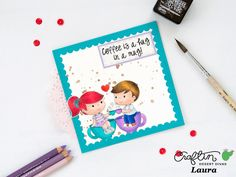 A bit of my crafts: Coffee Lovers Summer Blog Hop - Card feat Craftin Desert Divas Coffee Love Digital Stamp