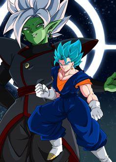 Vegito vs Black Goku and Zamasu fusion Dbz, Goku E Vegeta, Goku Vs Jiren, Zamasu Fusion, Goku Ultra Instinct, Dragon Ball Z Shirt, Ssj3, Epic Characters, Great Albums