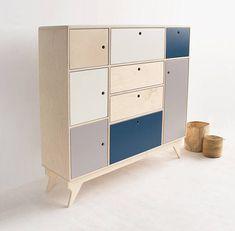 BLISS.2 customized handmade plywood chest of drawers /
