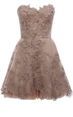 Karen Millen Limited Edition Romantic Embroidery Dress in Pale Pink
