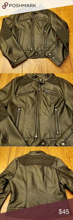 Girls Faux Black Leather Moto Jacket Size 7 / 8 Jessica Simpson Faux Leather Moto Jacket  Excellent Condition  Worn once Retail  $82 Super Cute  🛒🎁 Bundle and Save 💵💲 15% off 3+ items & All items marked with a ❤ are 3 for $25 or 5 for $40 Jessica Simpson Jackets & Coats