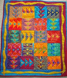Flying to the Fiesta - a challenge quilt I made for one of our guild's quilt show