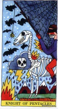 Knight of Pentacles - Tarot del Fuego by Ricardo Cavolo