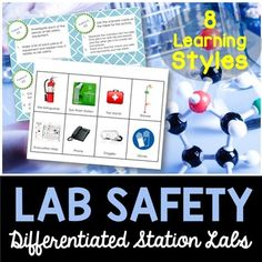 Lab Safety Station Lab - Students will love you for providing them with a hands-on experience when learning about lab safety at the beginning of the science school year. This unit covers all the lab safety procedures as . 5th Grade Science, Middle School Science, Science Stations, Science Ideas, Science Lab Safety, Beginning Of The School Year, School Counselor, Science Classroom, Teaching Ideas