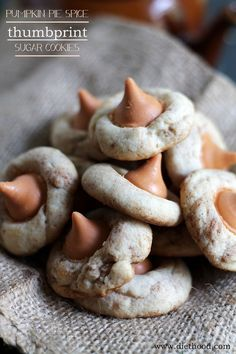 pumpkin pie spice thumbprint cookies