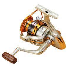 NEW HOT SALES E0FG Hot Sale 500-7000 Ice carp fly ocean rock spinning fishing reel 12 HPCR Ball Bearings wood knob