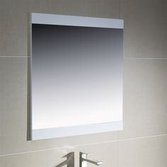 Modern mirror with wood sides