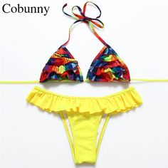 2491ea1ccecdd Cheap bikini bar swimwear, Buy Quality bikini white directly from China  swimwear cheap Suppliers  COBUNNY 2017 Print Brazilian Bikini Retro Set  Floral ...